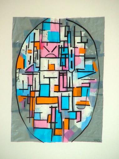 Composition in Oval with Color Planes